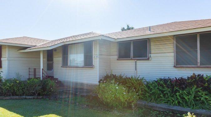 Backyard of 2902 Pikake St single family home in Lihue, Kauai on behalf of Maile Properties of Kauai